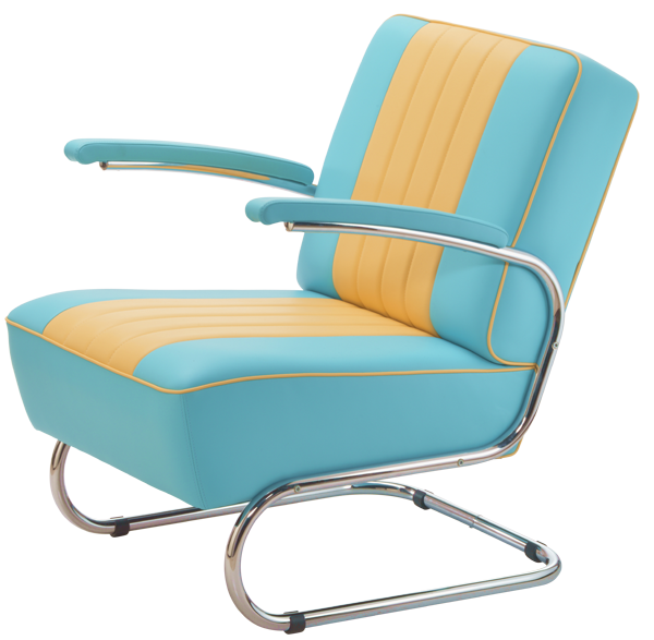 Diner Rocking Chair Blau