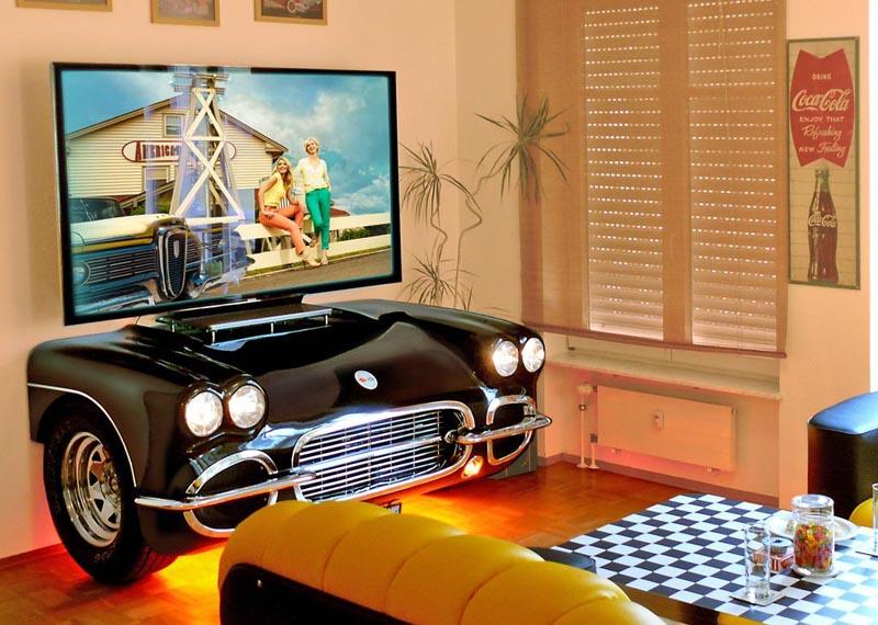 Wohnzimmer deko auto for Innenarchitektur 50er jahre