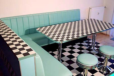 Sitzecke American Diner Style. Beautiful American Dinerbank ...