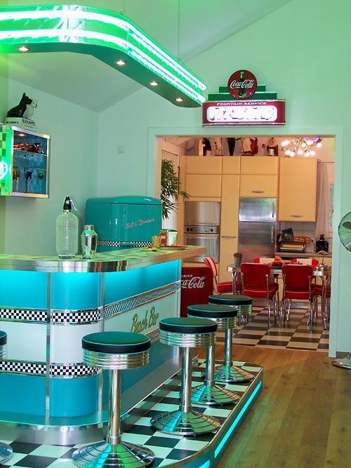 Teneis fotos de los tipicos bares restaurantes americanos - Cocinas retro anos 50 ...