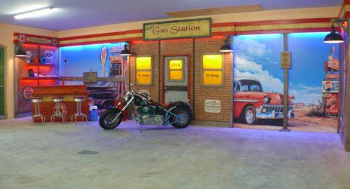 Garageneinrichtungen  Die Oldtimergarage - US Kulissen & Einrichtungen für Ihre Vintage ...