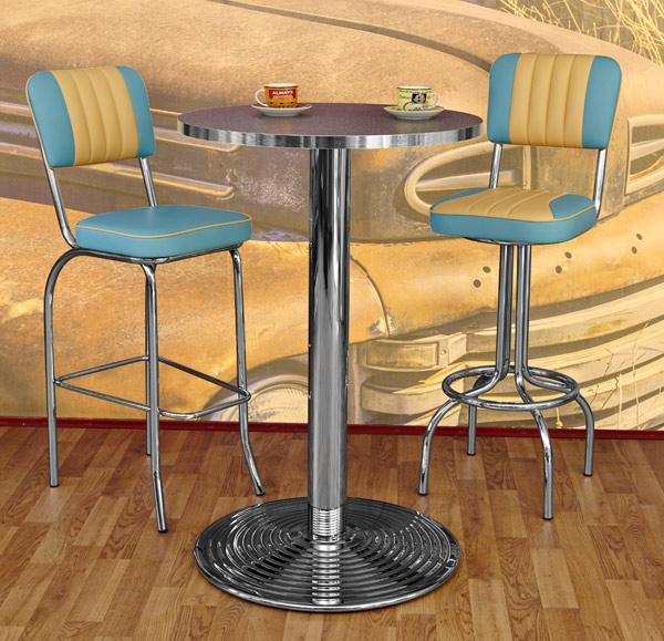 diner stehtische bartables im american style der 50er jahre. Black Bedroom Furniture Sets. Home Design Ideas