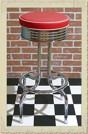 retro diner barhocker rocket mit sitzfl che in versch. Black Bedroom Furniture Sets. Home Design Ideas