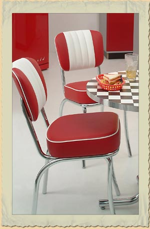 diner st hle im american diner chair look der 40er 50er. Black Bedroom Furniture Sets. Home Design Ideas