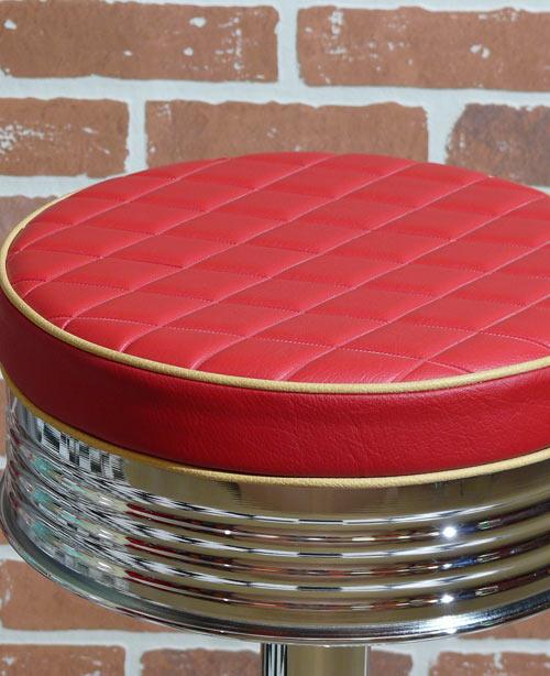 diner barhocker classic diner 80 rot und edelstahl gestell. Black Bedroom Furniture Sets. Home Design Ideas