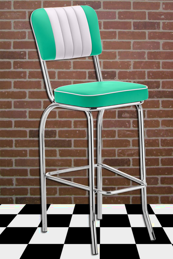 dinerhocker fifties style barstool. Black Bedroom Furniture Sets. Home Design Ideas