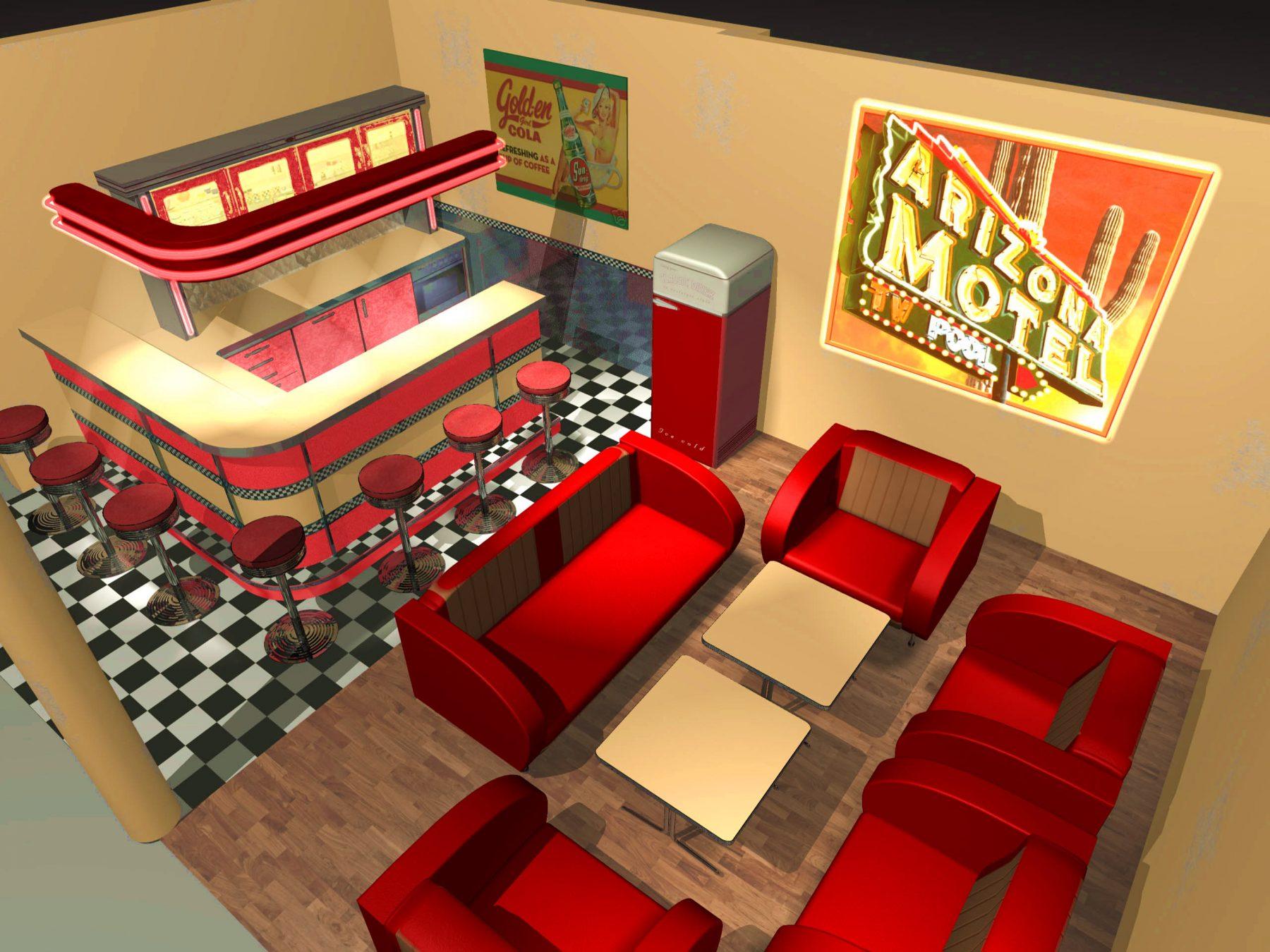 american warehouse american diner einrichtungen und restaurantkonzepte. Black Bedroom Furniture Sets. Home Design Ideas