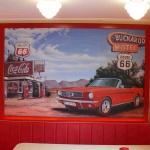 Wandbild Mit Kundenauto
