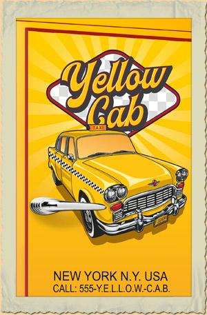 amerikanischer retro k hlschrank der 50er jahre in gelb mit yellow cab. Black Bedroom Furniture Sets. Home Design Ideas