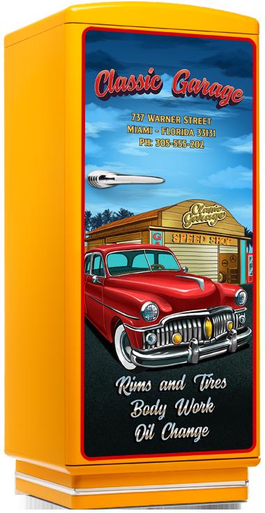 Amerikanischer k hlschrank retro nostalgie k hlschr nke for American classics garage
