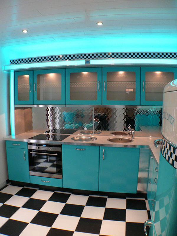 Amerikanische Kuchen Retro Kuche Nostalgie Kuchenmobel