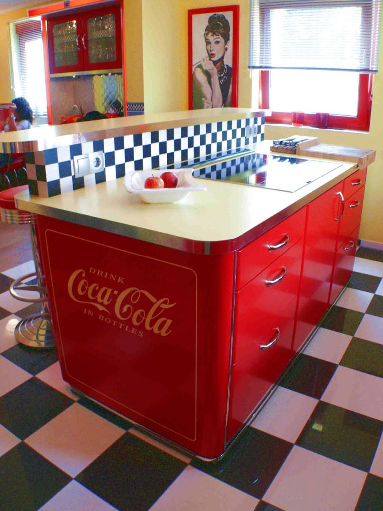 Diner Küche | Amerikanische Kuchen Retro Kuche Nostalgie Kuchenmobel
