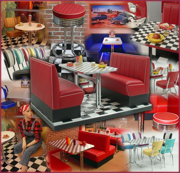 Messe Mietmobiliar amerikanischer Dinerstil, Dinerbank, Dinereinrichtung