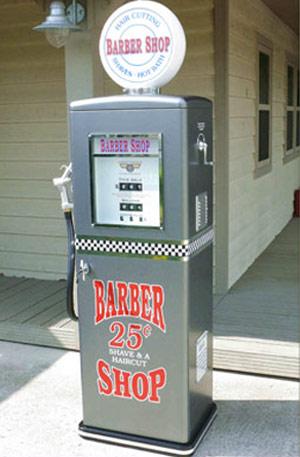 Zapfsäule Barber Shop