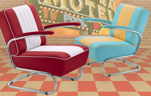 Diner Rocking-Chairs / Rocking Love Seats / Swing-Chairs
