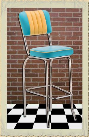 Barhocker Style diner barhocker der 40er 50er jahre