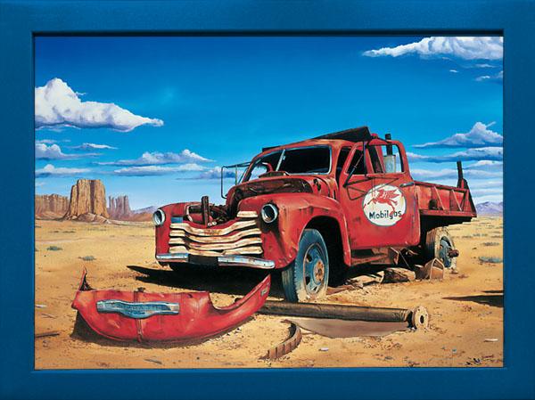 Wandbild Truck in Desert