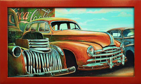 Vintage Art Old Cars