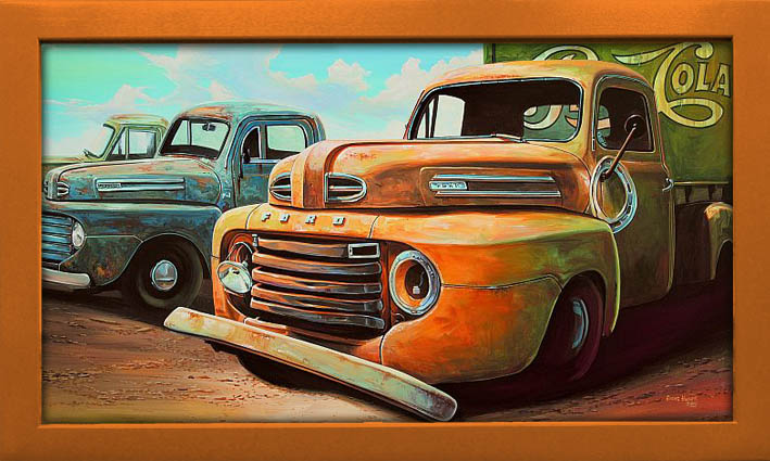 Old Trucks Vintage Art