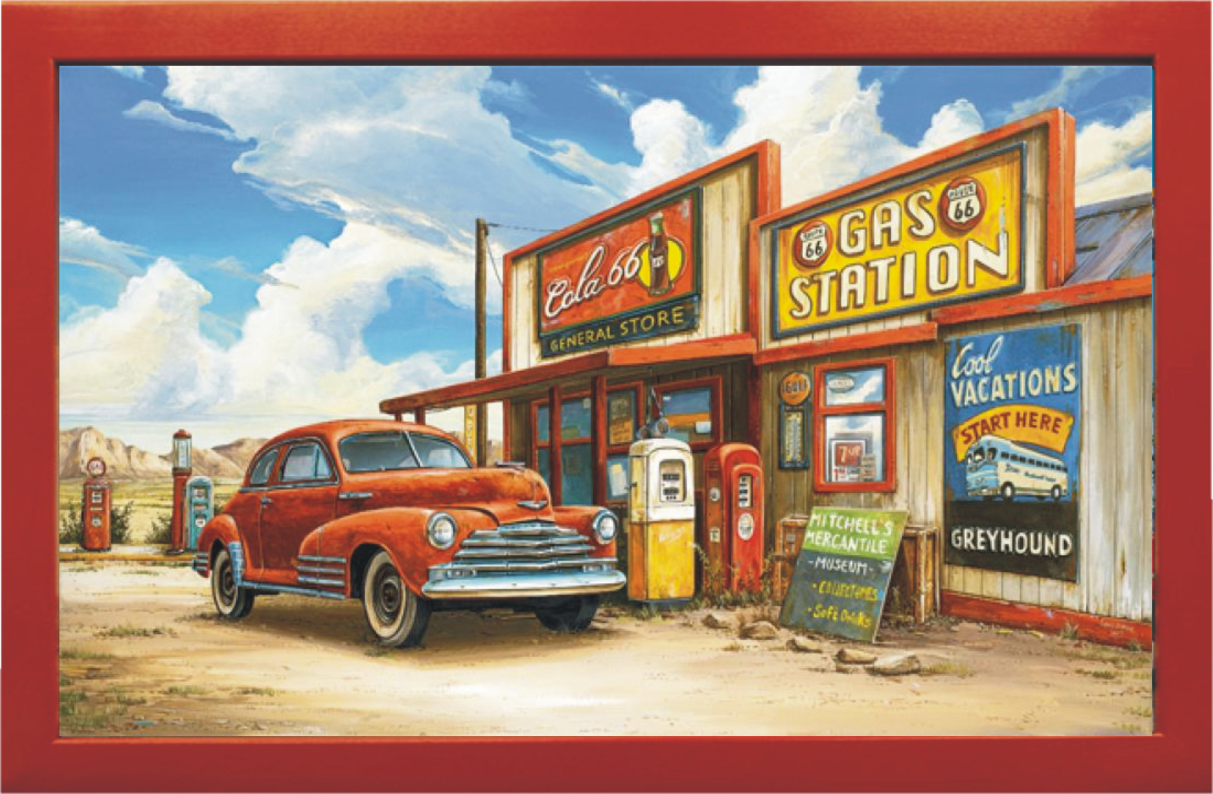 The Cola 66 Store Vintage Art