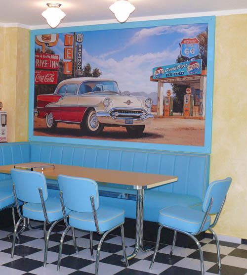 Amarillo Motel Wandbild beim Kunden