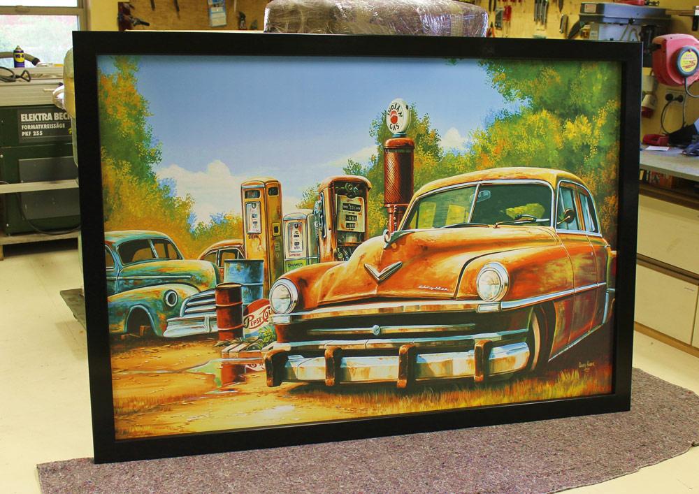 amerikanische retro vintage wandbilder route 66 50er jahre nach ma. Black Bedroom Furniture Sets. Home Design Ideas