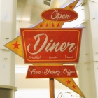 Diner For Rent Sign