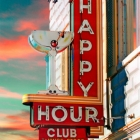 Happy Hour Club Wandbild Groß