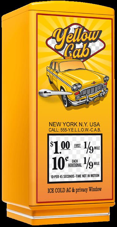 amerikanischer retro k hlschrank der 50er jahre in gelb mit yellow cabamerican diner m bel im. Black Bedroom Furniture Sets. Home Design Ideas