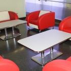 K Diner Lounge Rot Creme Zu Vermieten2