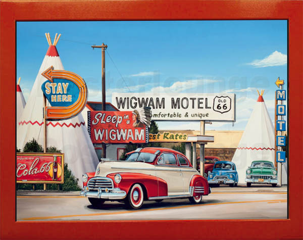 The Wigwam Motel Wandbild Vintage Art