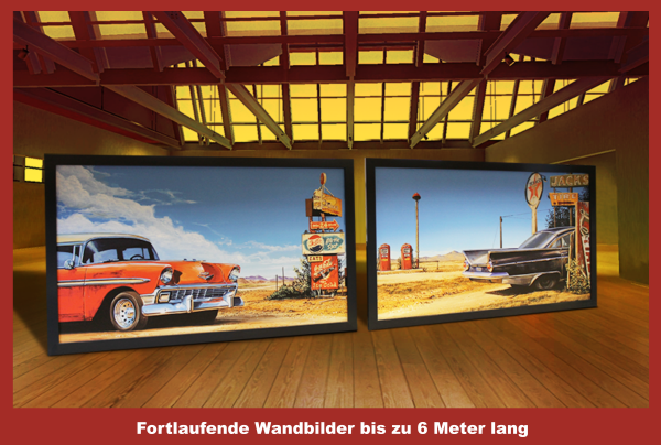 Vintage Art Wandbilder bis zu 6m Länge