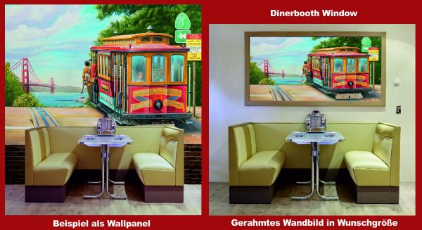 Beispiele Cable Car Wandbild
