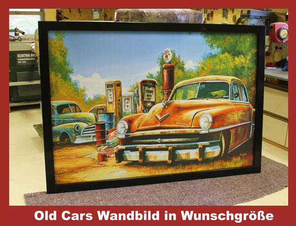 Old Cars Wandbild in Wunschgröße