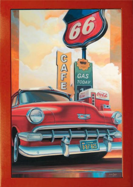 Route 66 Cafe Wandbild Vintage Art